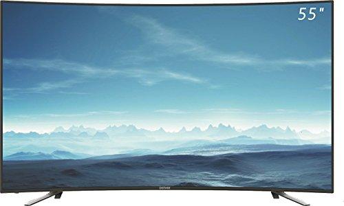 TV DENVER LED-5570T2CS - 55'/139CM UHD 4K CURVO - 3840X2160 - 200CD/M2 - 4700:1 - 6,5MS - ÁNGULO VISIÓN 178 - 3X HDMI - USB