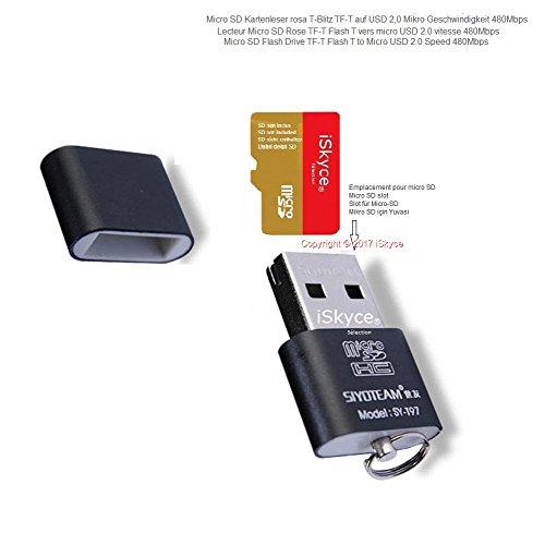 iSkyce Micro SD TF Kartenleser schwarz - OTG - und USB 2.0 Micro SD TF für Android Smartphone - Handy - Datensicherung und Datennutzung - -0317-0520