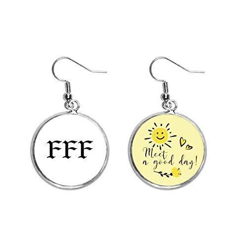 FFF Fury of Single Art Deco Gift Fashion Ear Drop Sun Flower Earring Jewelry Fashion