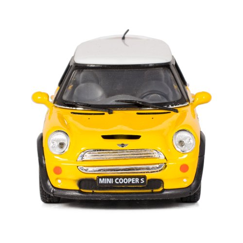 Yellow Mini Cooper S Die-Cast Collectible Toy Vehicle