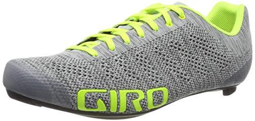 Giro Empire E70 Knit Road, Zapatos de Ciclismo de Carretera para Hombre, (Grey Heather/Highlight 000), 46 EU