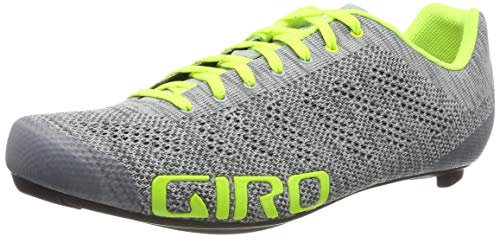 Giro Empire E70 Knit Road, Scarpe da Ciclismo Unisex-Adulto, Multicolore (Grey Heather/Highlight 000), 44.5 EU