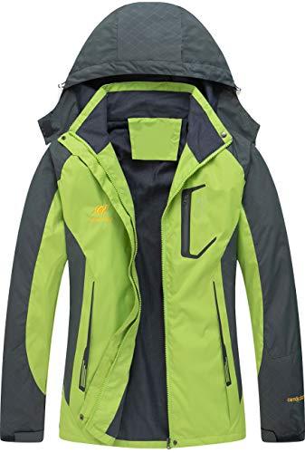 41EIvedffaL - Diamond Candy Women's Waterproof Jacket Outdoor Hooded Raincoat