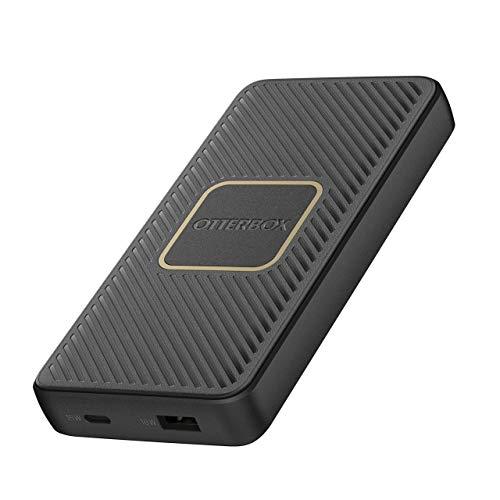 OtterBox Schnelllade Powerbank - 10 000 Mah-18W USB A (2.4A) & USB C (3A)mit Qi Wireless Charging mit 10W - Schwarz, 78-52566