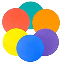 6 non-slip rubber throw down markers Markers can be used to provide fun activities for children Perfect coaching aid whilst training Colours - Blue, Red, Green, Orange, Purple & Yellow Diameter 25cm