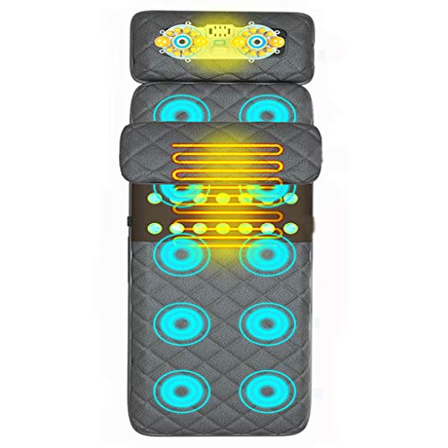 ZYM Multifunctional Massage Cushion, with 10 Vibrating Motors And 4 Therapy Heating Pad Full Body Massager Relieve Neck Back Waist Legs Pain