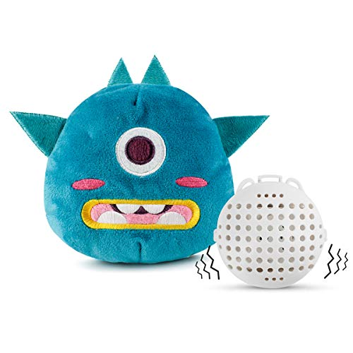 Enjoying Interactive Dog Toy - Halloween, New Year Green Monster Giggle Plush Dog Toy Squeaky Toys with Jumping Activation Ball for Dogs