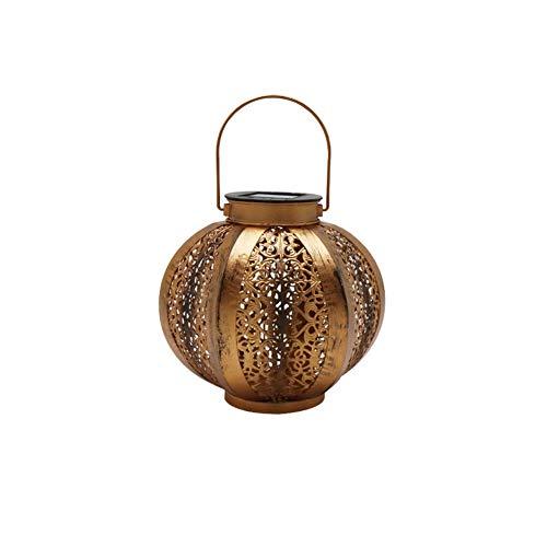Lámpara de pared a prueba de polvo a prueba de agu Solar colgantes de hierro forjado Lámpara de jardín al aire libre de la lámpara de la lámpara del paisaje de la lámpara a prueba de agua Villa Decora
