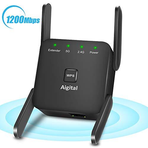 1200Mbps WiFi Booster Range Extender 2.4G+5G Dual Band Broadband WiFi...