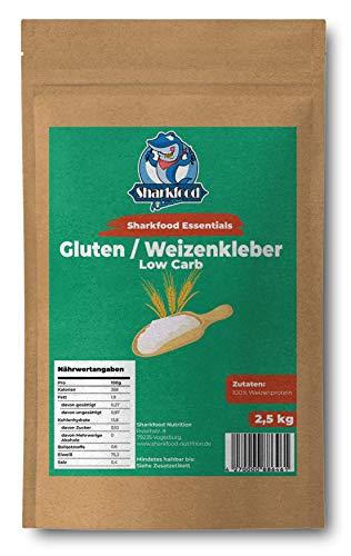 Premium Weizenkleber 2,5 KG | Lower Carb Mehlersatz | Weizenprotein | Gluten | Weizengluten | Seitan Basis | 2500 g
