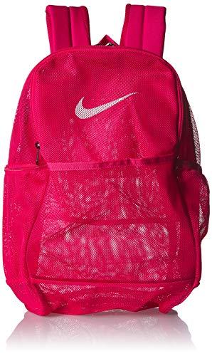 NIKE Brasilia Mesh Backpack 9.0, Rush Pink/Rush Pink/White, Misc