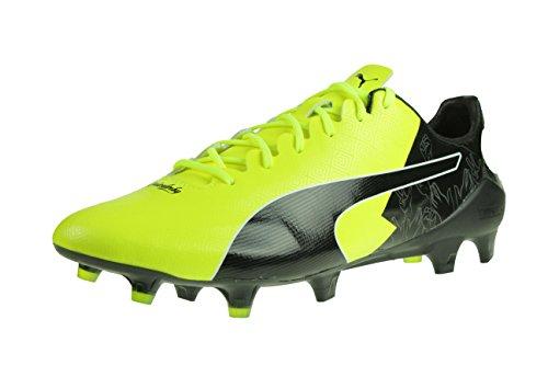 Puma Evospeed 17 SL S Reus DF FG Herren Fußballschuhe Nocken schwarz gelb weiß Größe 46,5