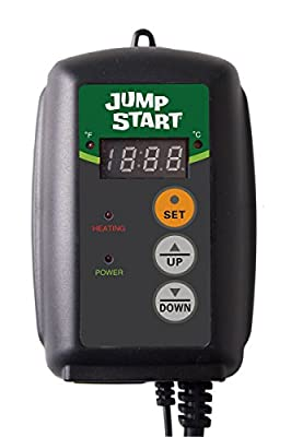 Hydrofarm Germination, Reptiles and Brewing Jump Start MTPRTC Digital Controller Thermostat for Heat Mats, Seed Ge, 9-by-19-1/2-Inch (2 Pack)