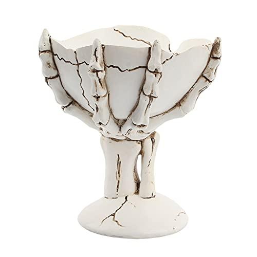Baoblaze Soporte de Bandeja de Almacenamiento de Estatua de Esqueleto Decoración Creativa Del Organizador Del Perfume de La Joyería