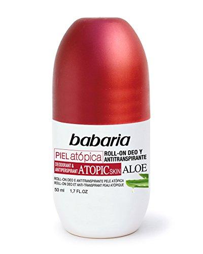 Babaria- Desodorante y antitranspirante en roll-on para pieles atópicas, 50 ml