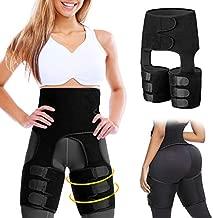 TIGARI 2020 Upgraded Waist Trainer for Women Weight Loss Everyday Wear Sweet Sweat Waist Trainer Belt, Adjustable 3 in 1 Waist Thigh Trimmer and Butt Lifter Hip Enhancer Body Shaper for Women