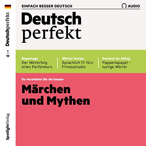 Deutsch perfekt Audio. 1/2019     Deutsch lernen Audio - Märchen und Mythen              By:                                                                                                                                 div.                               Narrated by:                                                                                                                                 div.                      Length: 59 mins     Not rated yet     Overall 0.0