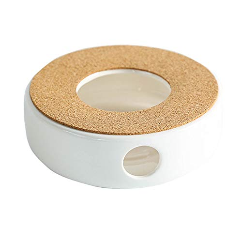 YYMM Calentador de Tetera de Porcelana, cálido con Caja Fuerte para Usar teteras de Soporte de Corcho, Soporte de Vela más cálido, Soporte de luz de té de habitación de Vela, para Tetera más cálida