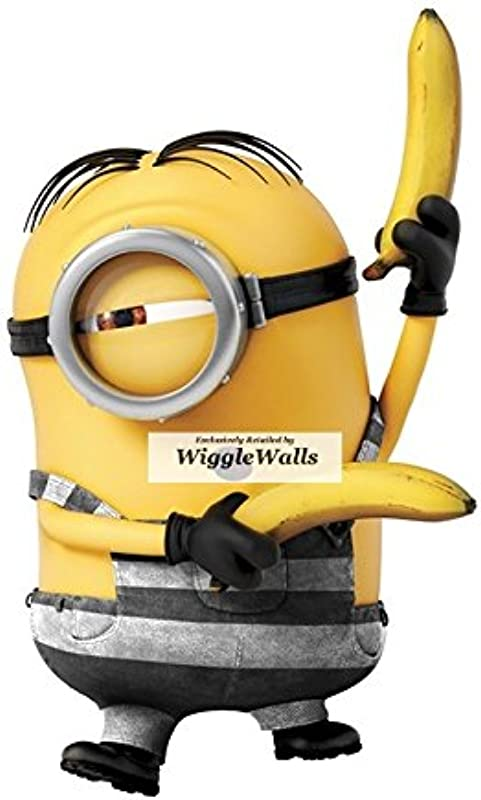 6 Inch Stuart Minion Despicable Me 3 Wall Decal Sticker Minions Removable Peel Self Stick Adhesive Vinyl Decorative Art Kids Room Home Decor Children 3 1 2 By 6 Inch