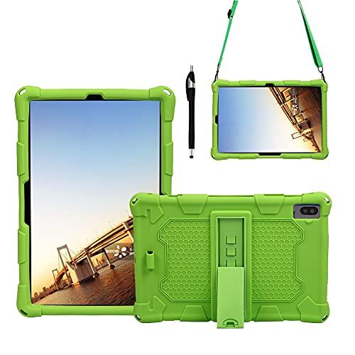 Tablets Duras Tablet Funda para Samsung Galaxy Tab S6 10.5'T860 (2019), Cubierta Protectora a Prueba de Golpes de Silicona Suave y Ligera con Correa de asador y Hombro Tablets Fundas