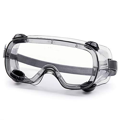Gafas de Seguridad, Lentes Transparentes, Gafas de protección contra el Viento y Salpicaduras Completamente Selladas, adecuadas para la producción química, de Laboratorio, hospitalaria e Industrial ✅