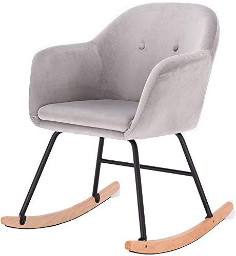 Solárium al aire libre sillas de jardín mecedoras crema salón silla sillón mecedora sillón retro informal,Light Grey