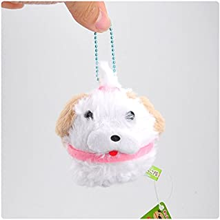 Dalino Babys Toys Mini Japanese Shiba Inu Series Small Pendant Plush Toy Beaded Doll (White)