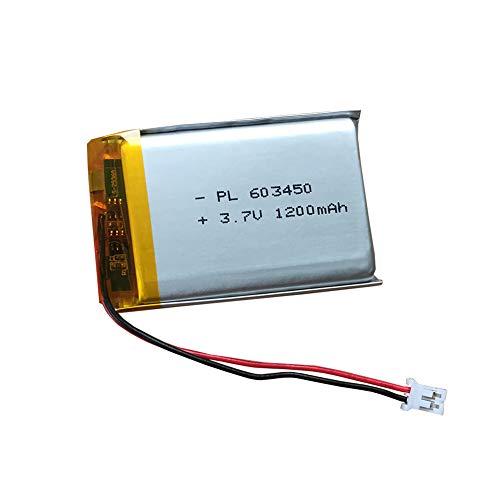 603450 Batteria 1200mAh per PS3 Controller Batteria Sostituzione Bluetooth Speaker GPS MP4 POS Macchina Macchina fotografica e altro ancora 1 confezione Nero