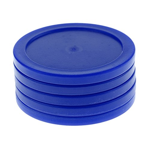 For Sale! 62mm Plastic Air Hockey Pucks for Game Tables, Set of 5 - Blue