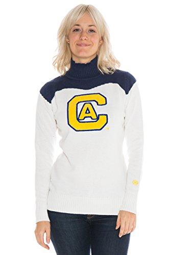 Alma Mater NCAA UC Davis Aggies Women's Cheer Sweater, Medium, Cream/Blue