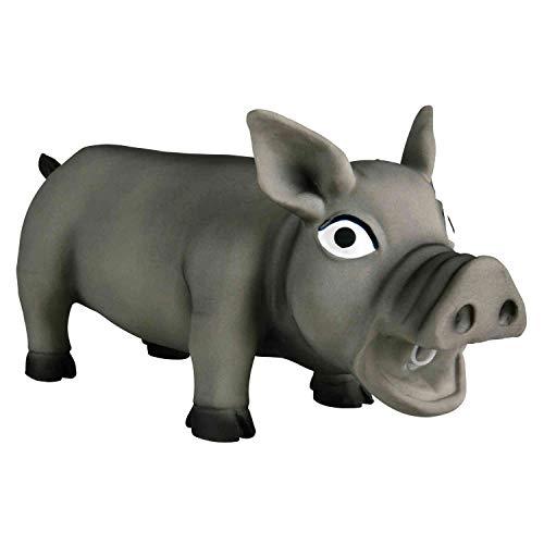 Trixie 35496 Schwein, Original-Tierstimme, Latex, 32 cm (farblig sortiert)