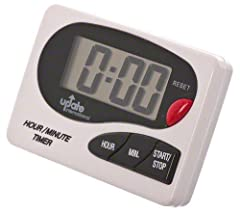 Timing Capacity of 19 hours Large, easy-to-read numbers Features magnet and clip for convenient mounting Includes AAA battery. Press Hour and Minute buttons to set desired time Measures 3-1/4-inch length by 2-3/8-inch width