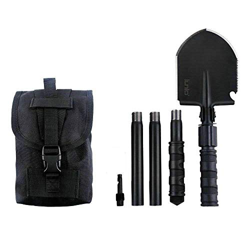 iunio Folding Shovel, Portable, Camping Multitool, Foldable Entrenching Tool,...