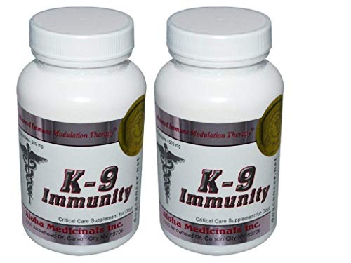 K9 K-9 Immunity Critical Care Formulation for Pets - 168 Capsules (In 2 Bottles) , 500mg per Capsule
