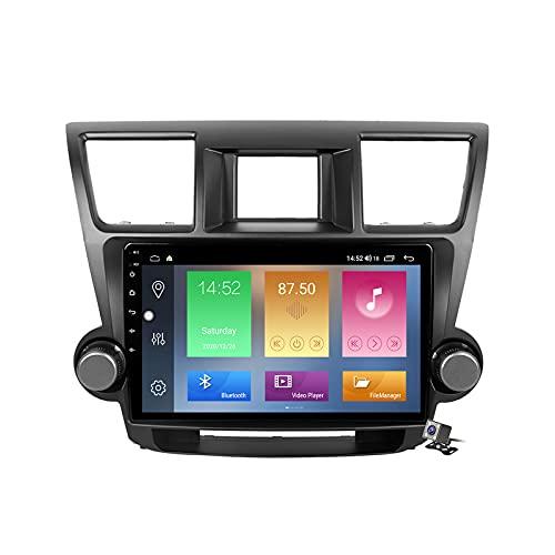 Buladala Android 10 GPS Navigation Stereo Radio para Toyota Highlander 2007-2013, 10,1' Pantalla Coche Media Player Soporte Carpaly Android Auto/5G FM RDS/Control Volante/Bluetooth Hands-Free,M600