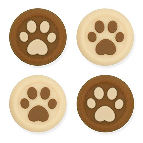 GeekShare Cat Paw Playstation 4 Controller Thumb Grips-Silicone Joystick Button Caps-Analog Thumbsticks Cover Set Compatible with Switch Pro and PS4 PS5 Controller-2 Pair/4 Pcs(Milk Tea Brown)