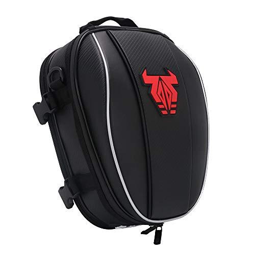 YSMOTO Motorcycle Tail Bag Waterproof Luggage Rear Seat Bag For Sport Outdoors Motorcycle Backpack Helmet Bag Red