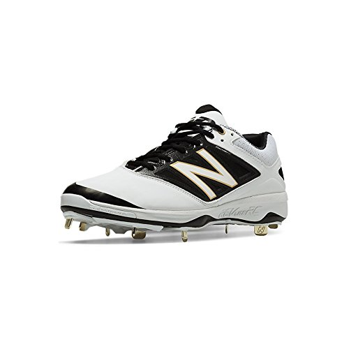 New Balance Men's L4040V3 Metal Cleat Baseball Shoe, Size: 16 Width: D Color: White/Black