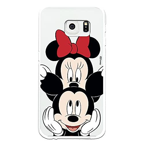 Custodia per Samsung Galaxy S6 Edge Ufficiale Disney Topolino e Minnie, per proteggere il tuo cellulare, cover per Samsung in silicone flessibile con licenza ufficiale Disney.
