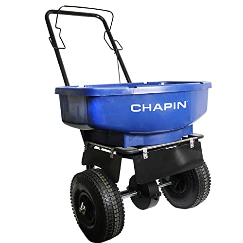 CHAPIN R E 81008A 80LB Residential Salt Spreader, 80 lb, Blue