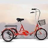 XHPC Bicicleta Vintage, Bicicleta Vieja Triciclos convenientes, Bicicletas para Personas Mayores, Bicicletas eléctricas, Triciclos de Compras y Ocio