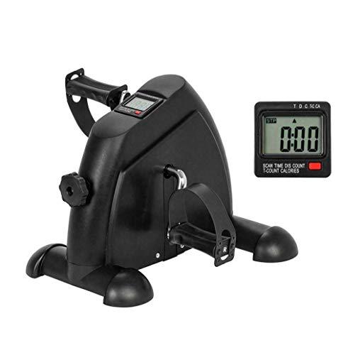 JFJL Unter Dem Schreibtisch Fahrrad Pedal Übungsgerät, Tragbares Pedal-Training Für Arm- / Beinübungen, Peddler-Trainingsrad Mit LCD-Display (Schwarz)