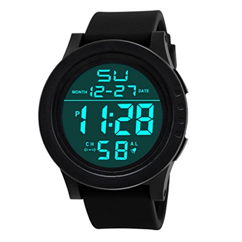 Cebbay Liquidación LED Hombre Hombre Reloj impermeable Digital Quartz Moda Militar Deporte