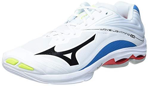 Mizuno Wave Lightning Z6, Scarpe da pallavolo Uomo, Bianco/Nero/Blu Diva, 50 EU