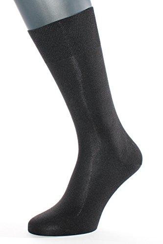 Albert Kreuz Die Elegante aus Seide - Herren-Socken aus 98% Seide schwarz 45-47