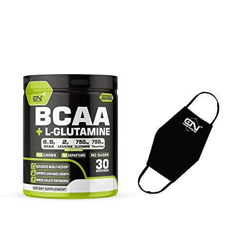 Canada Nutrition Instantized BCAA Power Punch 2:1:1 Workout Energy Drink | Pre/Post Workout Supplement | Recovery | Muscle Protein Synthesis | BCAA with L-Glutamine [30, Green Apple] Free Gym Mask