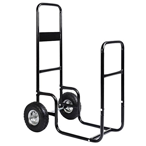 Read About MyEasyShopping Rolling Firewood Carrier Wood Mover Firewood Cart Carrier Wood Mover Rolli...