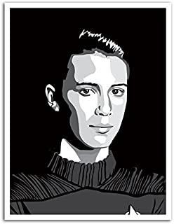 Cannonwalls CWPOS5001 uStrip Peel and Stick Star Wesley Crusher Wil Wheaton Hommage Trek Removable Wall Decal Sticker Poster