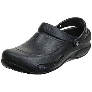 Crocs Unisex Men's and Women's Bistro Clog   Slip Resistant Work Shoes, Black, 7 US