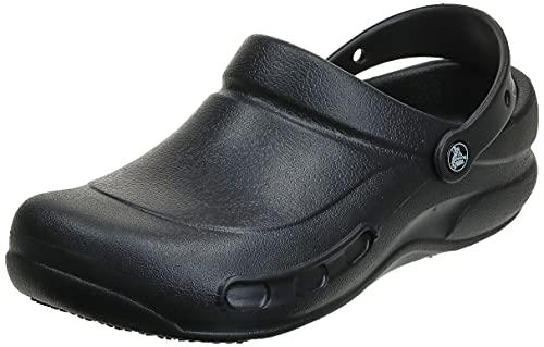 Crocs unisex adult Men's and Women's Bistro | Slip Resistant Work Shoes Clog, Black, 12 Women 10 Men US